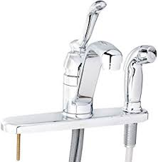 moen ca87528 banbury chrome one handle low arc kitchen moen ca87524srs low arc kitchen faucet with side spray from the