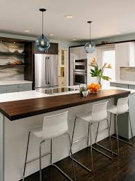 Blue Glass Kitchen Backsplash Angled Kitchen Island Ideas Beige Bevel Stone Tile Backsplash