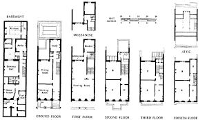 Typical Brownstone Floor Plan Queen U0027s Gate U0027albert Houses U0027 Typical Plans A Area B