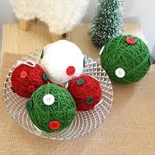 Christmas Ball Window Decorations by Aliexpress Com Buy Christmas Tree Ornaments Creative Wool Ball