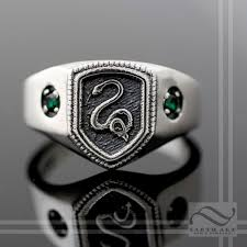 harry potter inspired engagement ring buy a made slytherin house ring harry potter inspired made