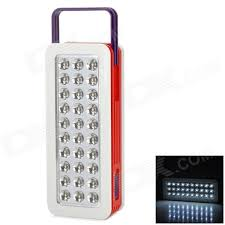 red and white led emergency lights rl 5330 rechargeable 50lm 6000 6500k 30 led white light emergency