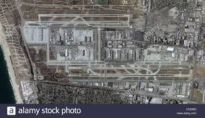 Los Angeles Airport Map by Aerial Map View Above Los Angeles International Airport Lax Stock