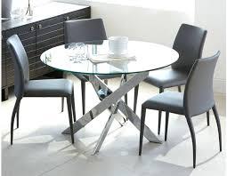 table de cuisine ronde en verre pied central table en verre cuisine ibiza table ronde en verre et en chrome