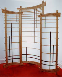 shoji screen room divider corner shoji screen curved but the curve is shallow enough that