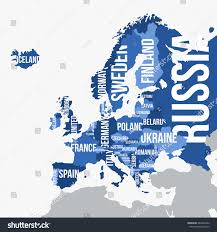 Europe Map With Country Names by Vector Map Europe Borders Country Names Stock Vector 442804363