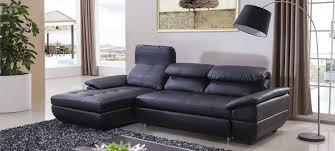 canapé d angle noir simili cuir canapé d angle gauche convertible cuir noir mezzio