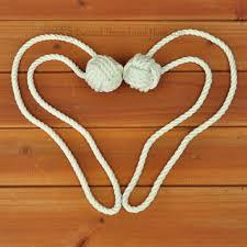 Monkey Hook 1 Pair Of Monkey Knot Curtain Tieback With Custom Length Loop