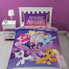 my little pony adventure movie single panel duvet cover set