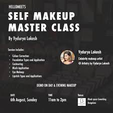 master makeup classes self makeup master class bengaluru meraevents