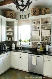 Top Of Kitchen Cabinet Decorating Ideas Kitchen Cabinet Decor Ideas Decorate Tops Of Kitchen Cabinet Best