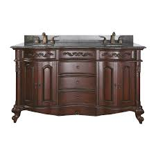 shop avanity provence antique cherry undermount double sink