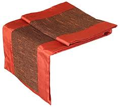 48 inch table runner artiwa burnt orange brown silk decorative table runner bed