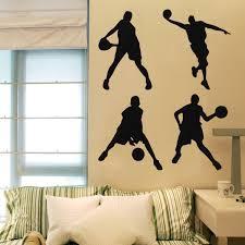 basketball wall sticker 23x60cm lazaara 1x wall stickers