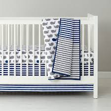 baby bedding grey blue whale crib bedding the land of nod