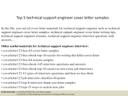 Resume Cover Letter Samples For Engineers by Top5technicalsupportengineercoverlettersamples 150620032553 Lva1 App6892 Thumbnail 4 Jpg Cb U003d1434770810