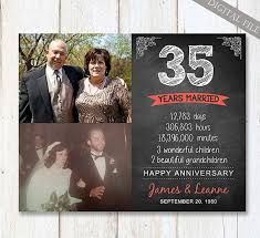 35th anniversary gift 35th anniversary gift for husband or best friends 35th