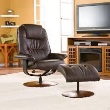 harper blvd gramercy brown leather recliner and ottoman free