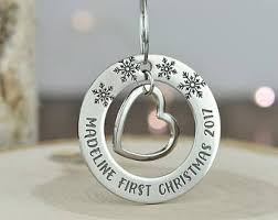 Christmas Ornaments Baby Baby U0027s First Christmas Ornament Etsy Ca