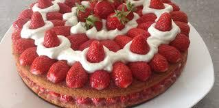 gateau aux fraises facile recette sur cuisine actuelle