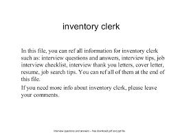 inventory clerk cover letter inventory clerk court clerk resume