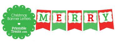 merry christmas banner merry christmas polka dot banner letters printable treats
