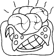 Food Coloring Pages Bread Coloringstar Coloring Pages Bread