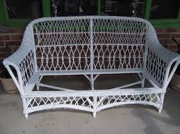 thomas nelson furniture restoration antique wicker rush cane sofa
