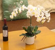 White Orchid Flower 2017 Flower Vase Artificial Whiteorchid Flower Arrangement Bonsai