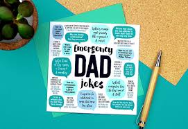 emergency dad jokes card dad birthday card funny birthday