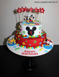 disney mickey mouse and friends theme 2 layer designer fondant