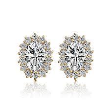 warren stud earrings luxury big zircons stud earrings for women bijoux gold