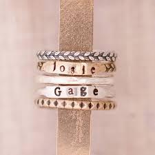 engraved stackable rings 57 best rings n things images on initial rings