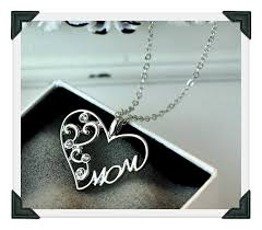 crystal heart pendant necklace images New mom charm silver crystal heart pendant more stuff i like png