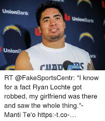 Manti Te O Meme - unionbank unionb rt i know for a fact ryan lochte got robbed my