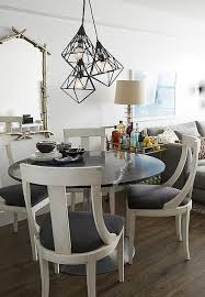 White Dining Table With Black Chairs Black Bamboo Dining Chairs Design Ideas