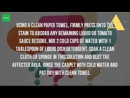 How To Remove Sauce Stains Sauce Upholstery And How Do You Get Tomato Sauce Out Of Carpet