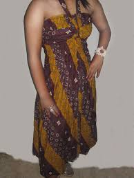 Baju Batik Batik baju batik batik kemben motif kerutan karet di dada sai kepinggul