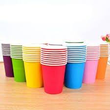 disposable cups solid color eco friendly paper cups kids children kindergarten