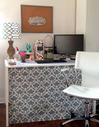 Wall To Wall Desk Diy by Loveyourroom Diy Home Office Desk Skirt Hides Clutter