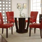red dining table set red dining table with white high backed
