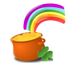 rainbow gold free stock photo illustration of a pot of gold