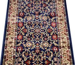 Navy Blue Runner Rug Custom Carpet Runner Classic Keshan Navy Blue 31 Kitchens
