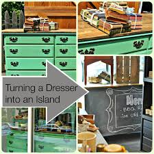 how to turn a dresser into an island