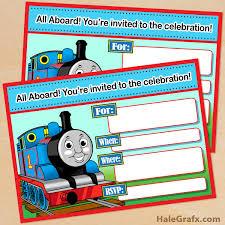 free printable thomas tank engine birthday invitation