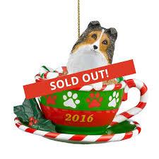 2016 annual sheltie ornament the danbury mint