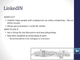 What Is An Online Resume by Social Media And Learning