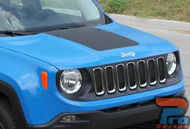 jeep renegade light blue renegade hood 2014 2018 jeep renegade center hood blackout
