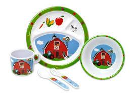 kitchen collection 5 pc melamine kids dinnerware set assorted 04904
