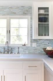 backsplash in kitchens iridescent glass tile by lunada bay stainless with taupe